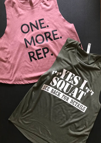 One. More. Rep. Crop tank