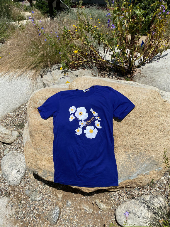 NEW! CalBG Matilija Poppy T-shirt