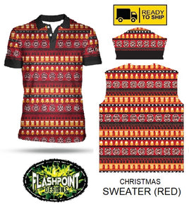 Christmas Fake Sweater Red - RTS