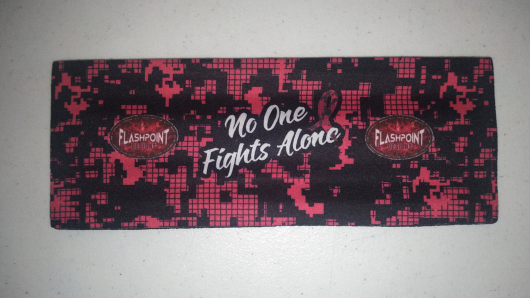 Slap Koozie- No One Fights Alone - RTS - Free Shipping!