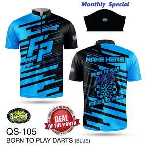 Monthly Special - Born To Play Darts Blue ***** Super $30 Bonus!