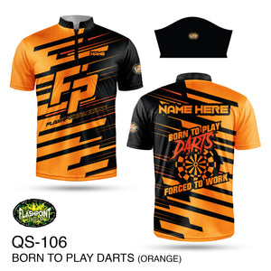 Born To Play Darts - Orange  - Personalized