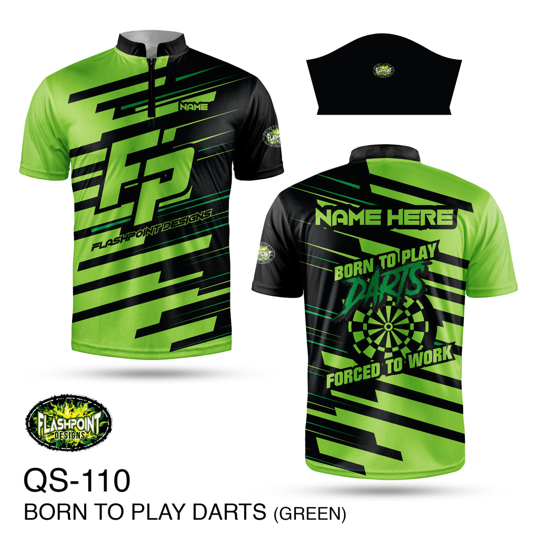 Born to Play Darts - Green - Personalized