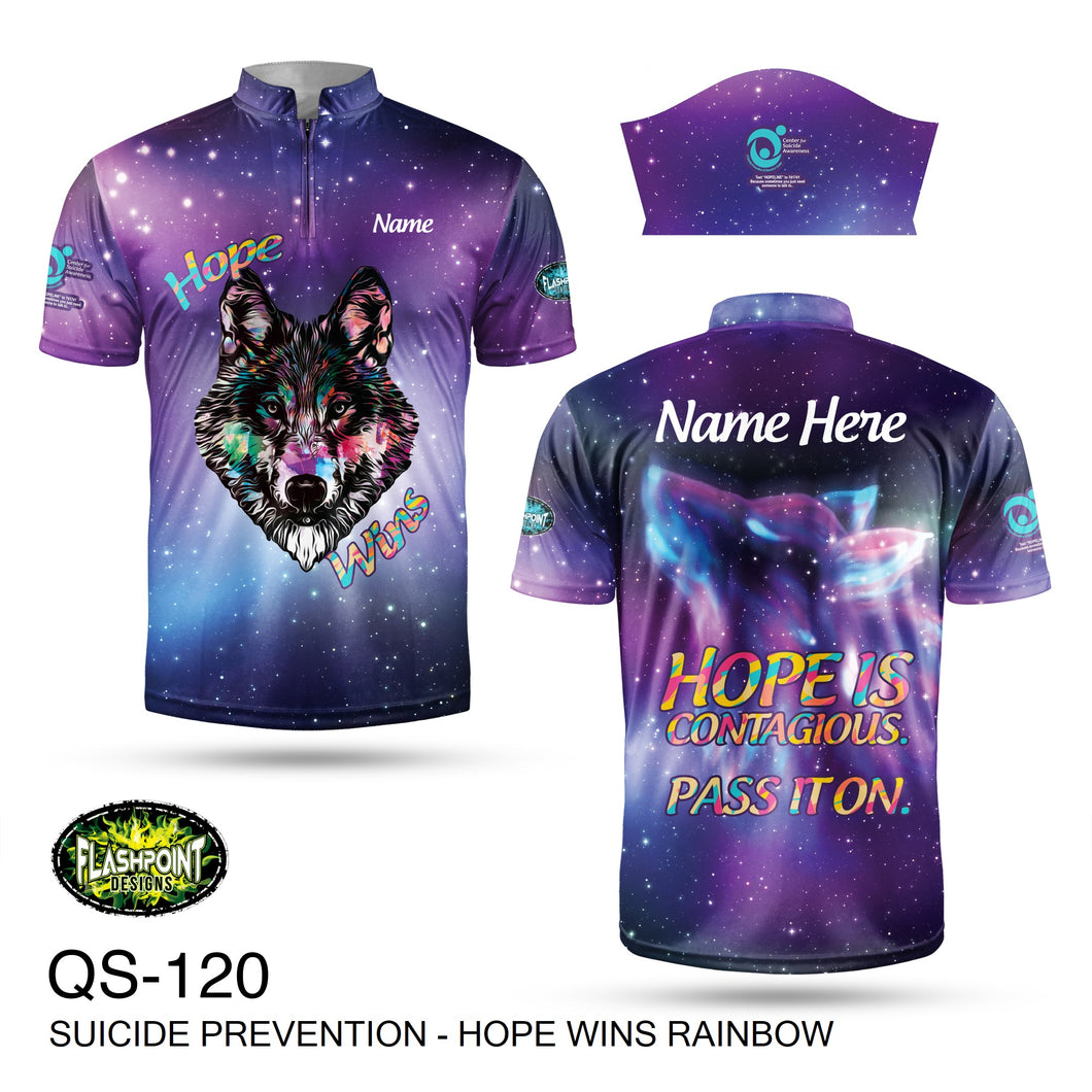 Suicide Prevention Hope Wins Rainbow - Personalized