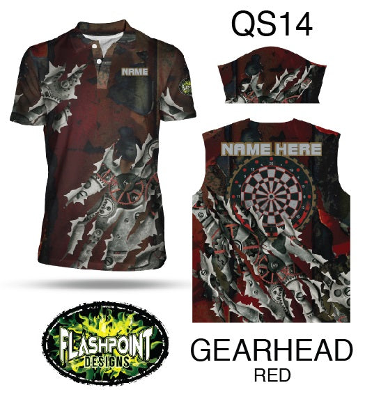 Gearhead Red- Personalized