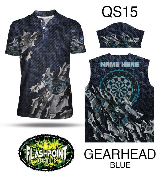 Gearhead Blue- Personalized
