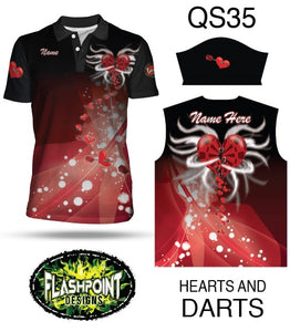 Hearts and Darts - Personalized