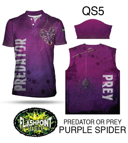 Predator or Prey Purple Spider- Personalized