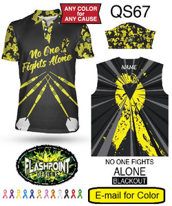 No One Fights Alone Blackout - Personalized