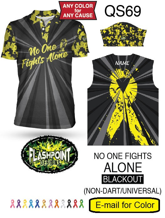 No One Fights Alone Blackout - Non Dart - Personalized