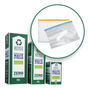 Empty sandwich and freezer bags recycling