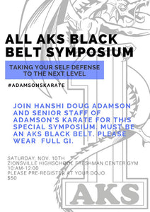 All AKS Black Belt Symposium 2018