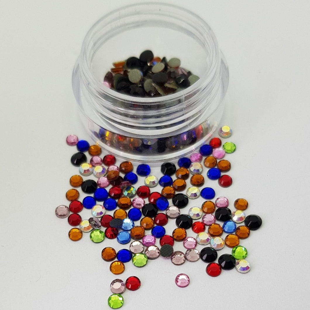 Mixed Colours 3mm (10ss) Crystals
