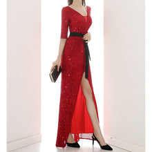 Load image into Gallery viewer, #5026 Sequins Evening Dress
