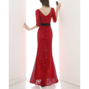 #5026 Sequins Evening Dress