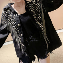 Load image into Gallery viewer, #5028 Tassel Diamond Rivets Jacket