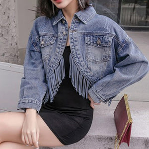 #5032 Tassel Denim Jacket