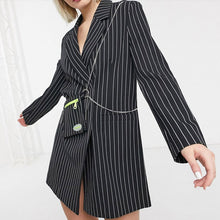 Load image into Gallery viewer, #5033 Stripe Dress Style Jacket