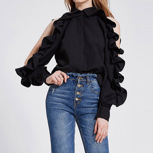 #5039 Ruffled Top