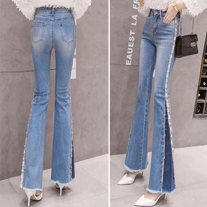 #5050 Embroidery Bead Jeans Trousers