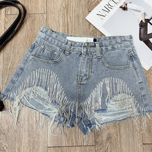 Load image into Gallery viewer, #5051 Nail Drill Denim Shorts