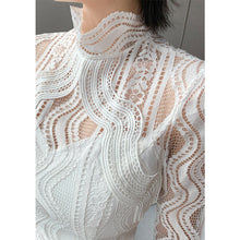 Load image into Gallery viewer, #5072 Lace Flared Sleeve Top