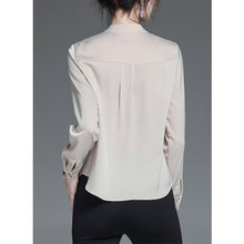 Load image into Gallery viewer, #5075 Satin Chiffon Shirt