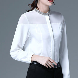 #5078 Beaded Collar Shirt