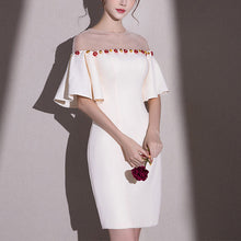 Load image into Gallery viewer, #5097 Lotus Sleeve Semi-transparent Sexy Round Neck Dress