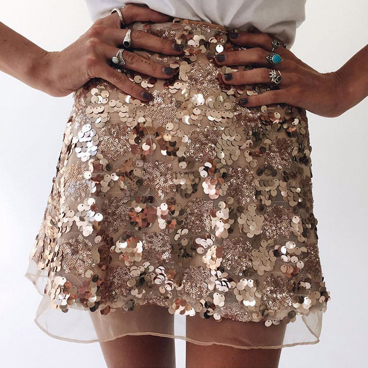 #5100 Sequined Skirt