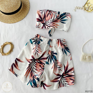 #6958 TOPS + SHORTS TWO-PIECE