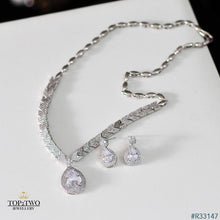 Load image into Gallery viewer, R33147 Earrings + Necklace (Two-piece ) S925 sterling silver
