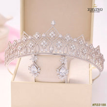 Load image into Gallery viewer, #R33188 Crown + Earrings (Two-piece )