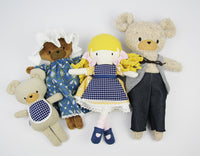 Hierloom doll set - Goldilocks and the three bears (4 doll bundle)
