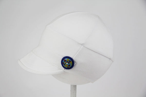 Downtown Hat -cotton jersey WHITE