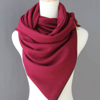 ADULT Zipper cowl wrap scarf - textured wine