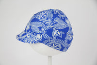 Downtown Hat -Swim blue white floral
