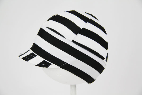 Downtown Hat -Swim BLACK WHITE STRIPE