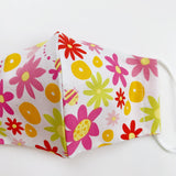 CHILD cotton face mask- floral light
