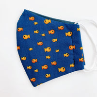 "CHILD ""EarLoop"" cotton face mask- gold fish"
