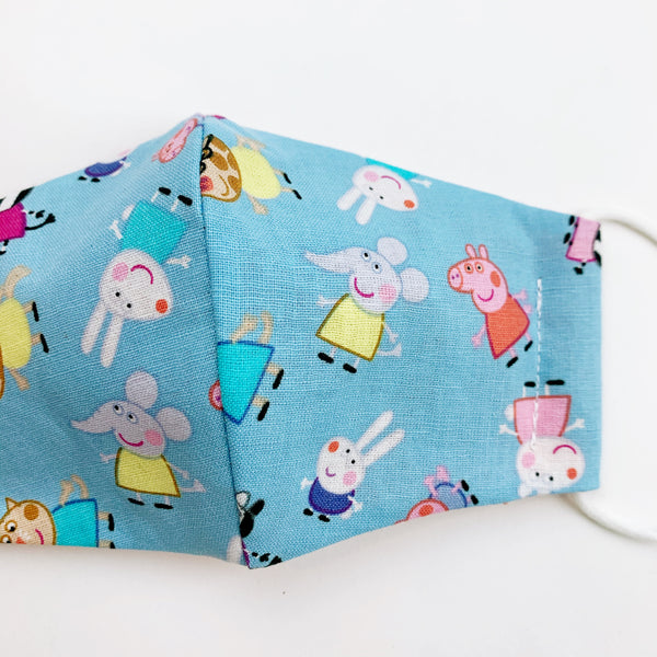 "SMALL CHILD ""EarLoop"" cotton face mask- peppa pig"