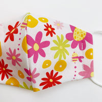 SMALL CHILD cotton face mask- floral light