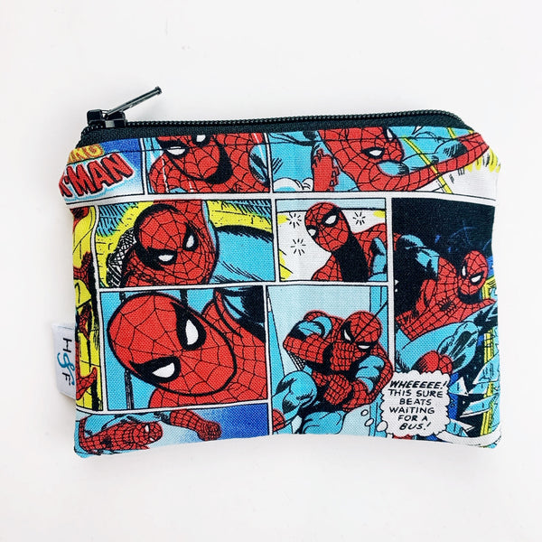 SMALL ReUsable Snack Bag -  Spiderman comic