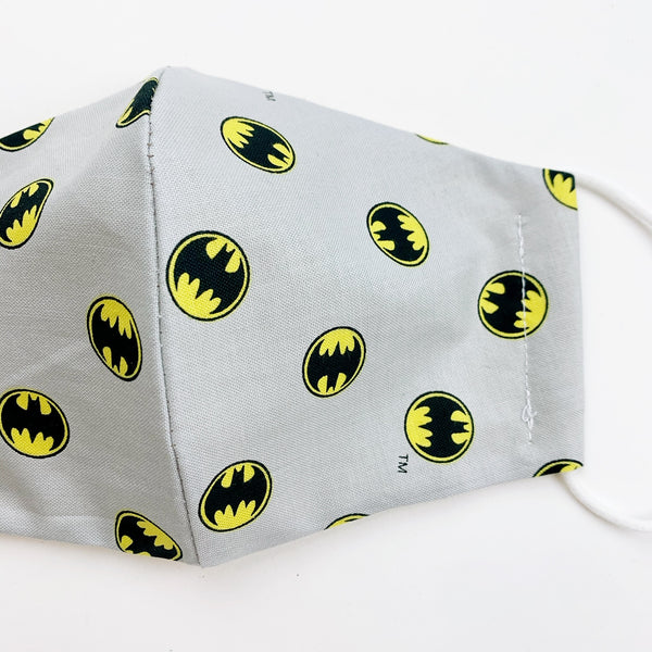 "CHILD ""EarLoop"" cotton face mask- batman"