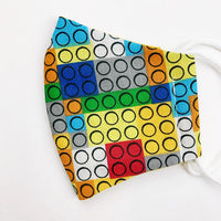 "SMALL CHILD ""EarLoop"" cotton face mask-lego"