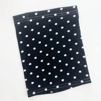 SMALL CHILD Gaiter neck mask cotton jersey face mask- black and white dot