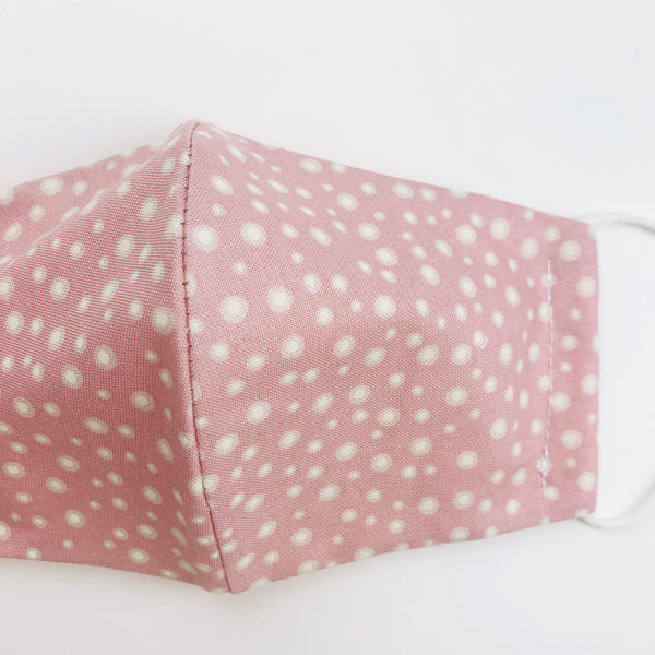 CHILD cotton face mask- pink dot glow in the dark