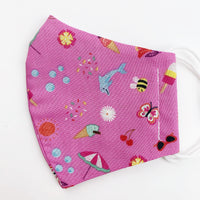 CHILD cotton face mask- pink summertime