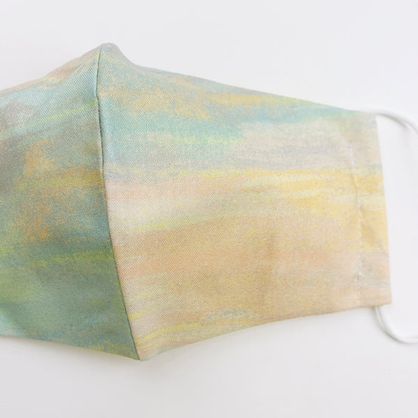 "ADULT ""Ear Loop"" cotton face mask- pastel watercolor"