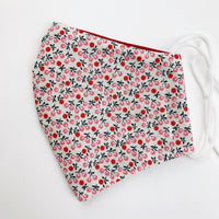 "CHILD ""EarLoop"" cotton face mask- cherries"